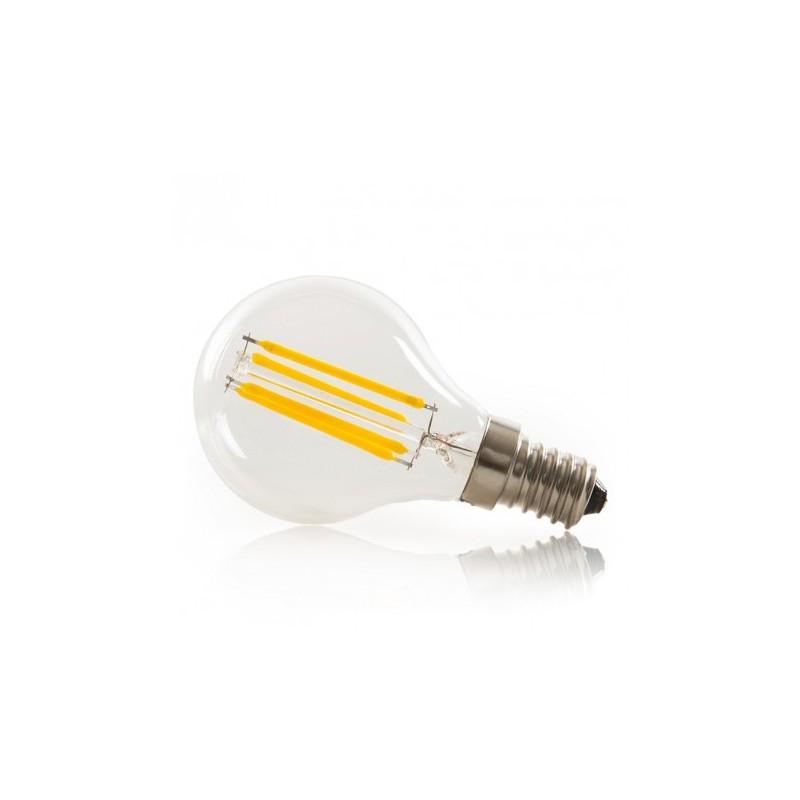 Bombilla LED de medio vatio de 4 vatios,bombilla de filamento vertical LED G45//G14 Golden Bowl Bombilla de base para candelabros E14 40 vatios,blanco c/álido 2700K no regulable,paquete de 6