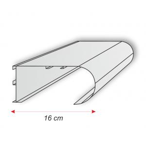 Perfil Aluminio para Rótulo Luminaria E-317 Y E-318 160mm E-322