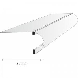 Perfil Aluminio para Rótulo Sin Luz E-317