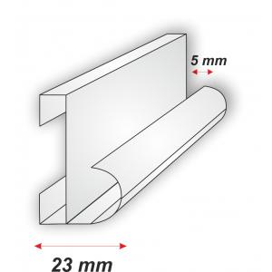 Perfil Aluminio para Rótulo Sin Luz E-318