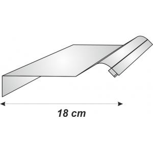 Perfil Aluminio para Rótulo con Acabado Curvo 125mm E-321