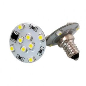 Lámpara LED E10 8 + 4 SMD