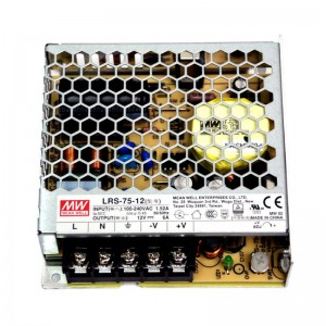 Fuente Alimentación MeanWell LRS-75 12V 6,2A IP20